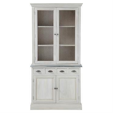 Pour un intérieur de charme, votre cuisine ne pourra pas se passer du magnifique vaisselier en acacia gris ZINC. Ce beau bahut en bois est composé de nombreux petits tiroirs ...