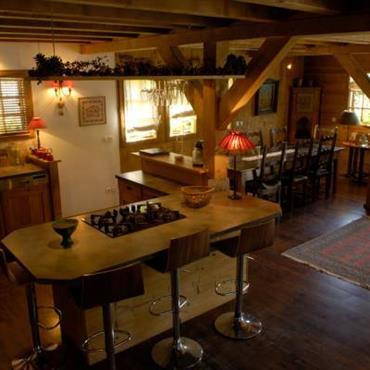 Cuisine style chalet montagne id es d coration id es - Cuisine style chalet ...
