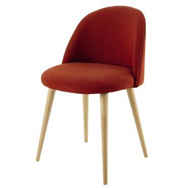 Avec son coloris corail, cette chaise vintage brique MAURICETTE donnera un bon coup de peps à votre salle à manger. Légèrement inclinés, ses pieds en bouleau massif font un joli ...