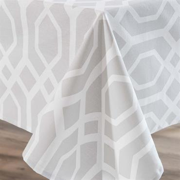Nappe en coton gris 170 x 310 cm VERA