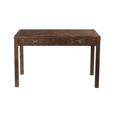 Avec son style meuble ancien, le bureau en cuir JULES VERNE semble tout droit sorti des cabines de paquebot des grands voyageurs. Tout en sobriété, ce meuble bureau associe avec ...