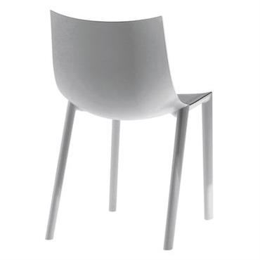 Chaise empilable Bo / Plastique - Driade gris en matière plastique