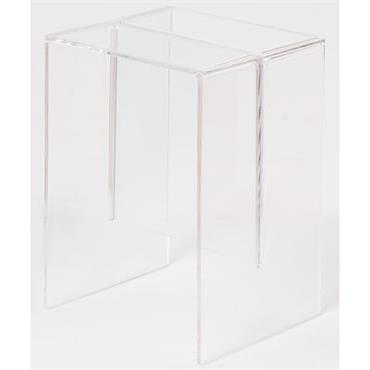 Table d´appoint Max-Beam / Tabouret - Kartell cristal en matière plastique