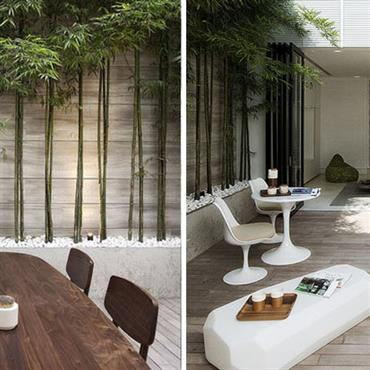 Terrasse semi abritée d'un appartement
