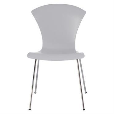 Chaise empilable Nihau / Assise plastique & pieds métal - Kartell