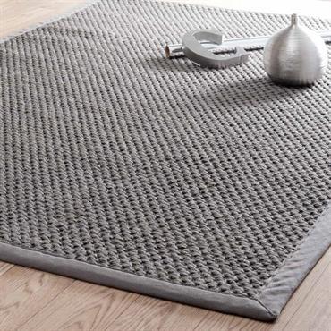 Tapis tressé en sisal gris 140 x 200 cm BASTIDE