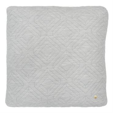 Coussin Quilt / 45 x 45 cm - Ferm Living Gris clair