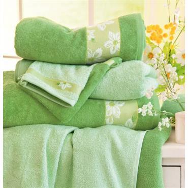 Un bouquet de bonne humeur Eponge 100% coton, 400 g/m² Lavable à 60° Finition liteau jacquard