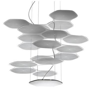 Suspension Space Cloud / LED - Artemide Aluminium en Métal