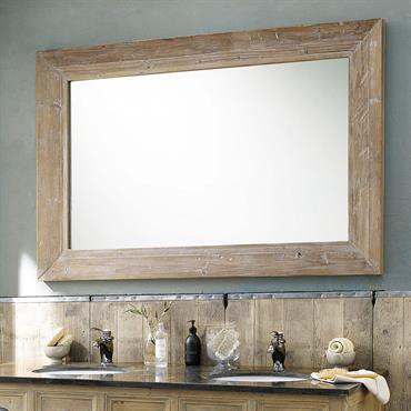 Miroir en hévéa blanchi H 200 cm CANCALE