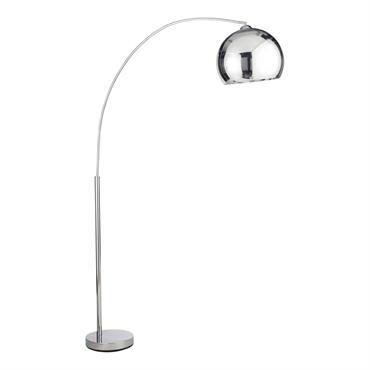 Lampadaire en métal chromé H 200 cm SPHERE