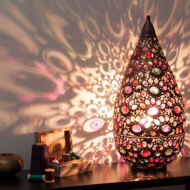 Lampe en métal effet cuivre H 52 cm SHEHERAZADE