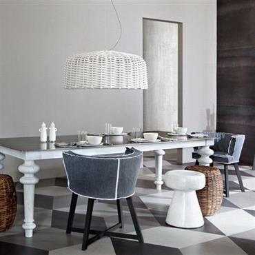 Salle à manger au mobilier éclectique