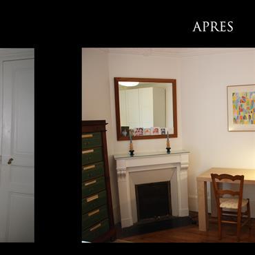 Décoration d'une chambre dans un appartement parisien