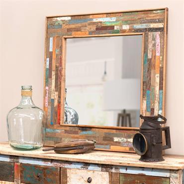 Miroir en bois H 90 cm BOHÈME
