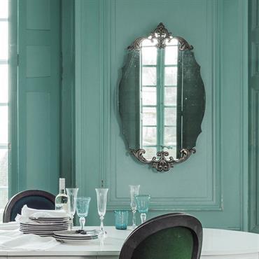 Miroir ovale en métal bronze H 101 cm LYDIANE