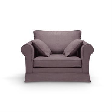 Revêtement : - tissu coton lin : 72% coton + 28% lin. Très doux, daspect rustique. 425g/m². Finition passepoil. Entièrement déhoussable pour faciliter l´entretien. Garnissage : - Assises : Mousse ...