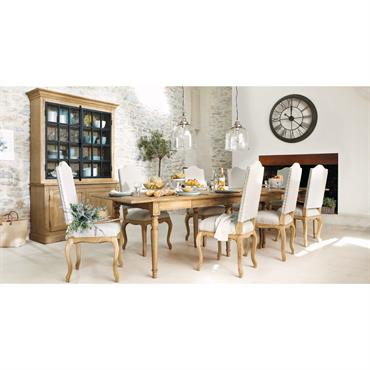 Table de salle à manger à rallonges en chêne massif L 100