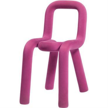 Housse de chaise / Pour chaise Bold - Moustache rose en tissu