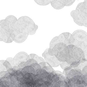 Papier peint Cloudy / 2 lés - Bien Fait blanc