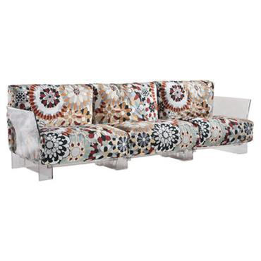 Canapé droit Pop Missoni / 3 places - L 255 cm