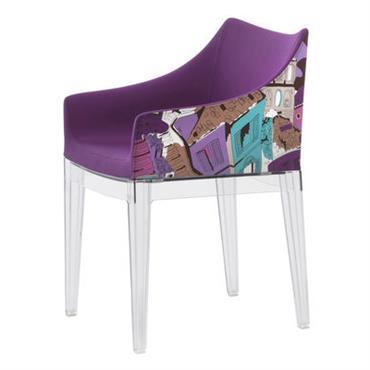 Fauteuil rembourré Madame / By Emilio Pucci - Kartell violet en tissu