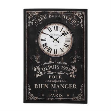 Horloge en bois noire 40x60