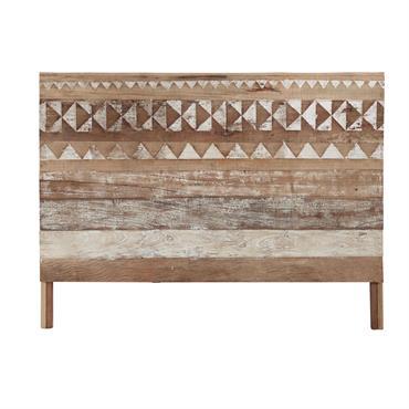 Tête de lit à motifs en bois recyclé L 160 cm Tikka