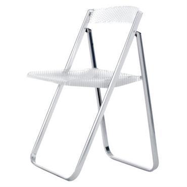 Chaise pliante Honeycomb / Transparente - Polycarbonate & métal - Kartell cristal