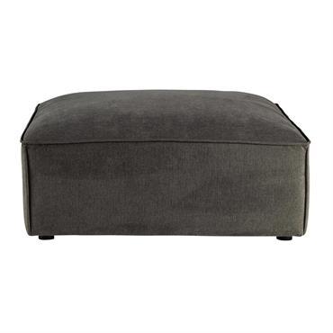 Pouf de canapé modulable en tissu taupe grisé Malo