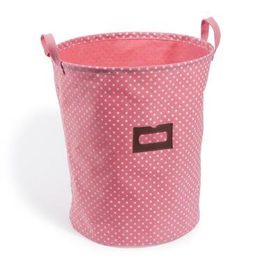Panier à linge en coton rose