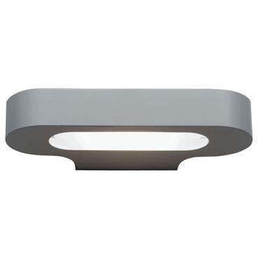 Applique Talo /Version halogène - L 21 cm - Artemide gris en métal