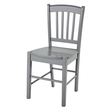 Chaise en hévéa gris Marlie