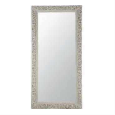 Miroir en bois beige grisé H 180 cm ALIÉNOR