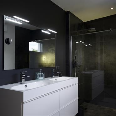 salle de bain moderne id es photos tendances domozoom. Black Bedroom Furniture Sets. Home Design Ideas