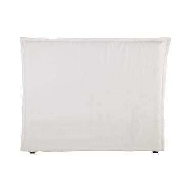 Housse de tête de lit 140 en lin lavé blanche Morphee