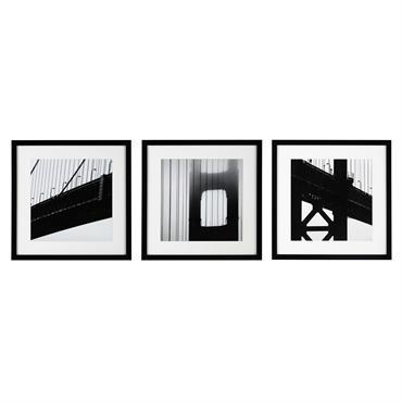 3 cadres en bois noir/blanc NY BRIDGE