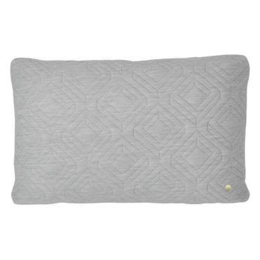 Coussin Quilt / 60 x 40 cm - Ferm Living Gris clair