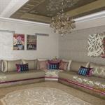 Salon classique en angle