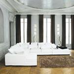 Canapé d'angle modulable 7 places en coton taupe Loft