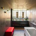 Salle de bain design en béton ciré