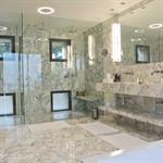 Salle de bain et marbre blanc