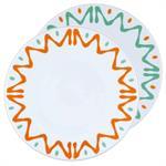 2 assiettes présentation Porcelaine de Limoges décor FLORIDA