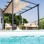 Tonnelle toile ajustable pour terrasse