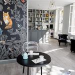 Salle de restaurant avec papier peint Animaux de la Forêt