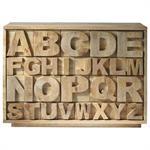 Cabinet de rangement en manguier Alphabet