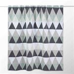 Drap de bain en coton blanche/grise 100x150 TRIANGLE