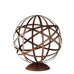 Déco de jardin globe en métal marron H78