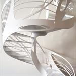 Escalier design hélicoïdal Art Nouveau