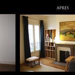 Décoration d'une salle à manger dans un appartement parisien